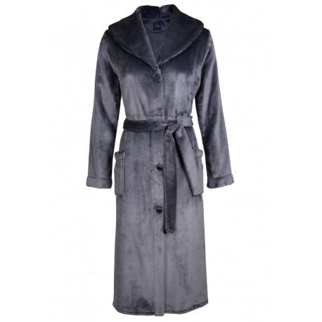 Fur button-down dressing gown in ESSENTIEL H50A Vison