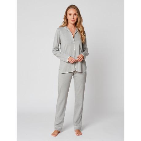 Pyjama boutonné en coton ESSENTIEL H06A Gris