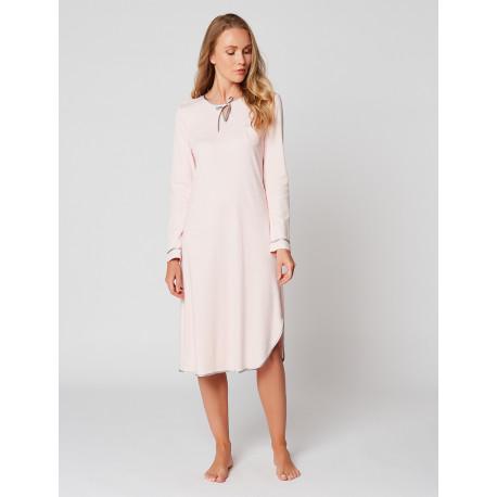 Long nightdress 100% cotton ESSENTIEL H21A Bois de rose