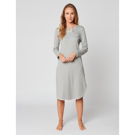 Long nightdress 100% cotton ESSENTIEL H21A Gris