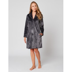 Fur Button-down dressing gown in ESSENTIEL H55A Vison