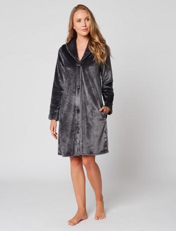 Fur Button-down dressing gown in ESSENTIEL H55A Vison