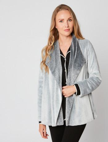 Veste homewear en fourrure ESSENTIEL H73A Gris