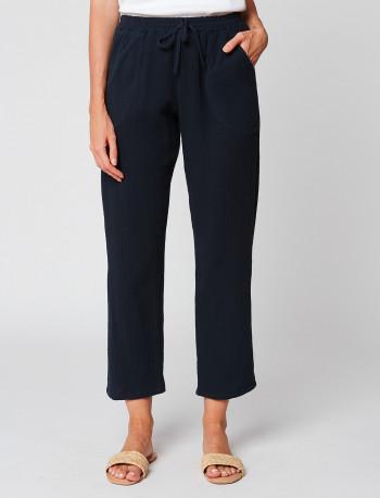 Pantalon en gaze de coton HYDRA 180 Marine