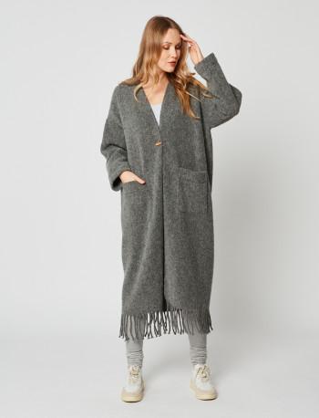 Long Knitwear Jacket ESSENTIEL 952 Gris chiné