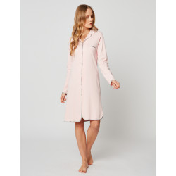 Button-down nightdress 100% cotton ESSENTIEL H05A Bois de rose