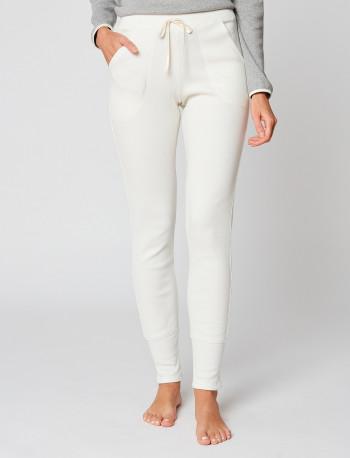 Pantalon homewear en coton NAMASTE 980 Ecru