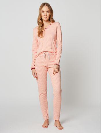 Pyjama coton PARESSE 202 Rose chiné