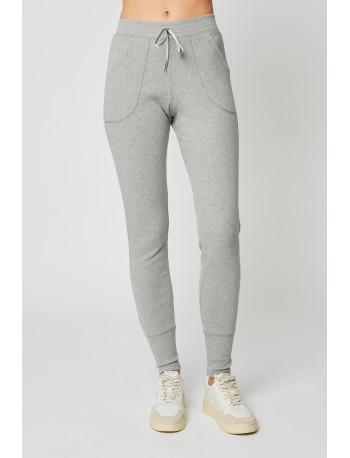Pantalon homewear en coton ESSENTIEL 280 Gris chiné