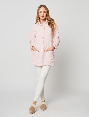 Veste homewear en fourrure ESSENTIEL H75A Bois de rose