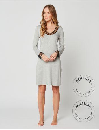 Nightdress MOONLIGHT 201 Grey Fleck