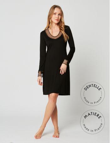 Nightdress MOONLIGHT 201 Black