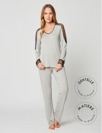 Pyjama MOONLIGHT 202 Gris chiné