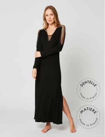 Full-length nightdress MOONLIGHT 211 Black