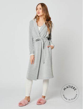 Microfleece bathrobe SWEET 260 Grey